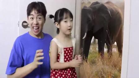 国外少儿时尚:小女孩和宝爸一起3d模拟,太好玩了