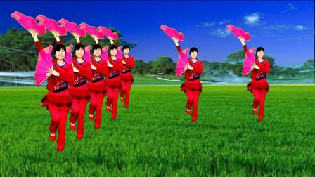 广场舞《开门红》歌曲欢快喜庆,舞蹈简单易学