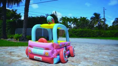 儿童亲子互动,小宝贝组装各种玩具车挖机警察车消防车,太逗了