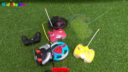 儿童亲子互动,小宝贝组装遥控玩具车越野车跑车,快来看看吧