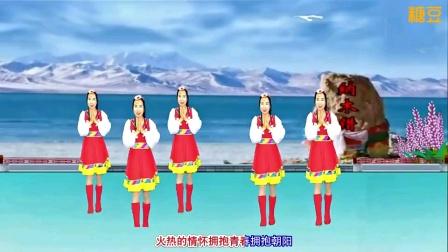 玲姐广场舞编舞并演示樊银品作词原创藏族舞曲《神圣的高原美丽的家乡》