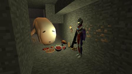 GMOD游戏迪迦奥特曼找到了偷零食的桥梁蠕虫