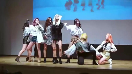 韩国女团演出热舞,歌声优美舞姿带感