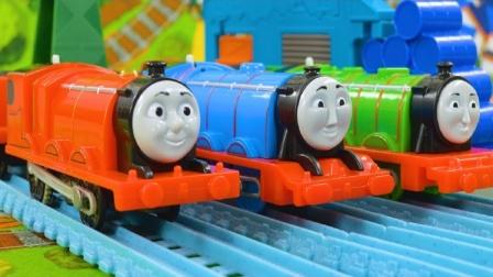 托马斯和他的朋友们进行接力赛