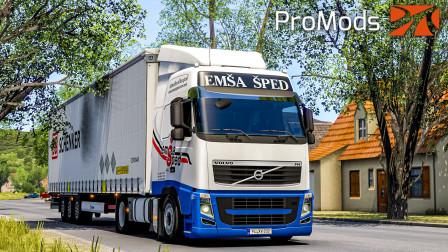 欧洲卡车模拟2 #378:北马其顿EmsaSped公司涂装 在线驾车买导航   Euro Truck Simulator 2
