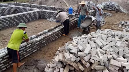 东南亚是如何砌砖房的?这技术你看值多少钱一天