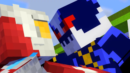 我的世界动画-奥特曼 VS 托雷基亚-Minecraft Tomato