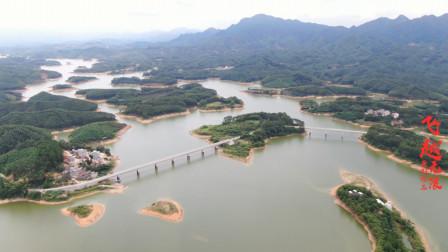 航拍广西贵港达开水库,广西的第二大水库,以太平天国名将命名