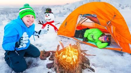 如何在雪地生存24小时?趣味大胆挑战!