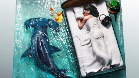 与鲨鱼同眠,滴胶创意手工!