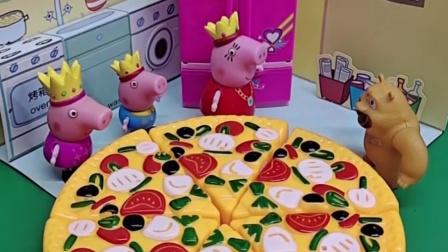 猪妈妈做了好吃的披萨,熊二来的真是时候