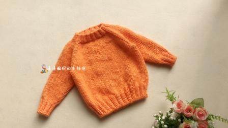 108集清清编织 简单 套头衫从上往下织插肩毛衣 新手视频教程棒针手工成人儿童