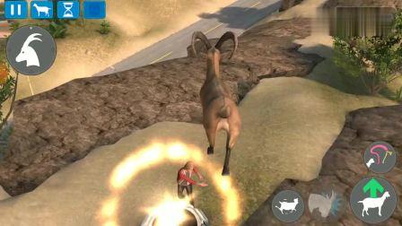 模拟山羊:老山羊偶遇一位小姐姐,直接被一巴掌打上天!