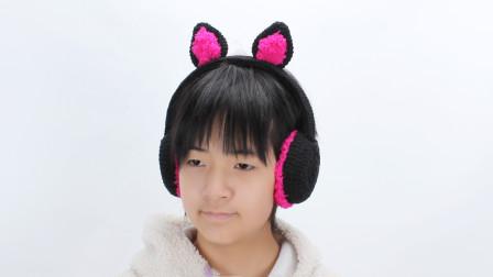 可爱卡通动物耳罩 小狐狸护耳罩 非常好看噢