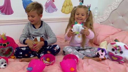 美国时尚儿童,萌宝兄妹在玩啥,古灵精怪的