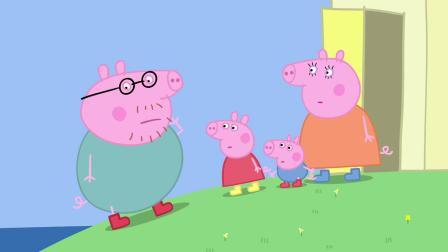猪爸兴奋的跳泥坑,怎么也想不到,一下子洗了个澡!