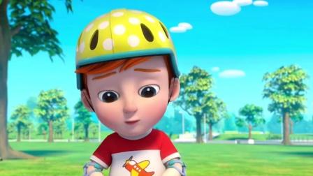 超级宝贝jojo:爸爸带娃教哥哥骑车