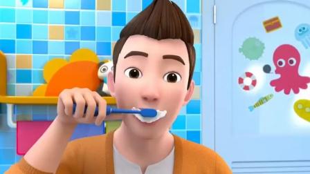 超级宝贝jojo:爸爸的牙刷被宝宝看上