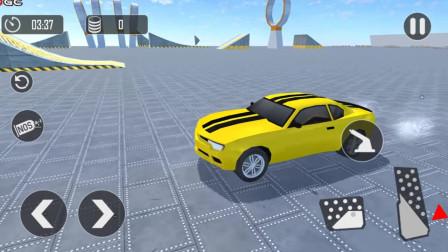 好玩的游戏:驾驶小车闯关了,闯了两次都没通过!