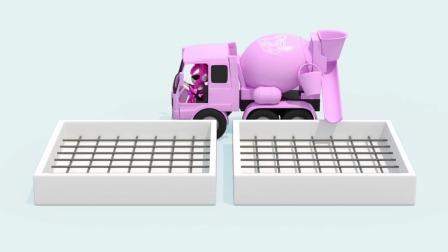 迷你特工队游戏:露西开着车子,它拉的是水泥吗?