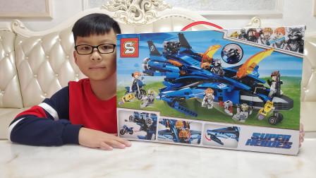 非LEGO乐高积木昆式战机玩具开箱