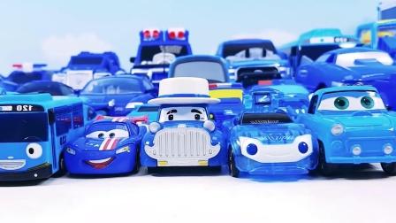 一起来玩好玩的,蓝色小汽车玩具