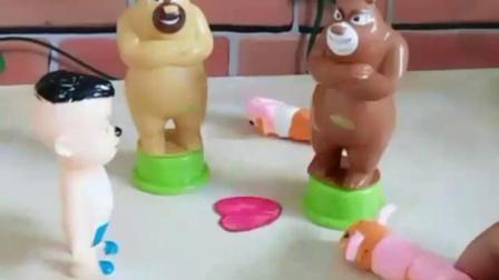 早教玩具宝宝益智∶熊大把毛毛虫踩死了,需要9999颗爱心_ω