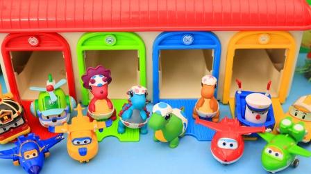 彩色房子里的超级飞侠玩具