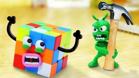 当外星绿遇到魔方,笑喷了!