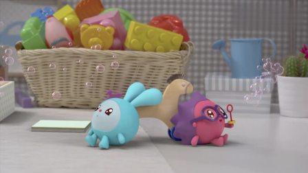 瑞奇宝宝:跳跳拉着诺诺出门玩,真是开心,但是要注意安全啊