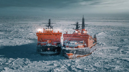 破冰船和普通船有什么区别?就连破冰船也有被厚冰困住的时候啊