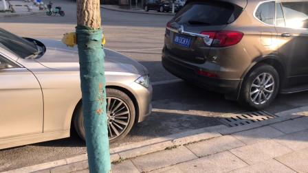 新手简单侧方位停车,记住这几个步骤,驾校学不到的停车技巧