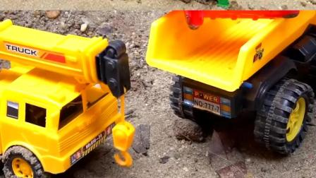 认识工程车玩具 起吊车运送铲车翻斗