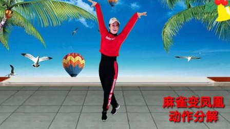 广场舞《麻雀变凤凰》动作分解教学 简单一学就会 适合大众跳的健身舞