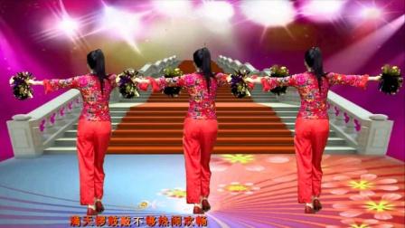 新春福旺迎好运,佳节吉祥《开门红》喜庆的背面广场舞