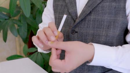 拿在手上普通香烟瞬间在手上消失,怎么做到?教学后非常简单!