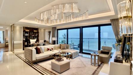 没看过海边的房子,这大平层值得看,13米大阳台一线海景