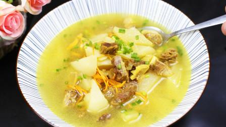 """冬天要多吃萝卜,大厨秘制""""牛腩炖萝卜""""牛肉软烂入味,开胃下饭"""