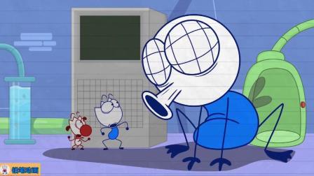 搞笑铅笔动画:铅笔人和苍蝇互换身体