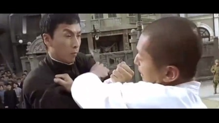 叶问甄子丹单挑3个外国高手,反败为胜,全程高能!