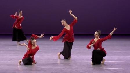北京舞蹈学院女班古典舞身韵展示,专业的就是不一样,看着舒服!