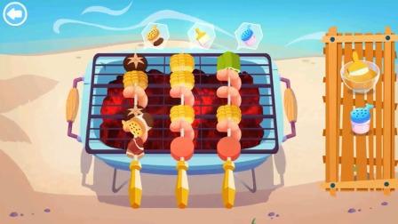 美食兄妹小游戏,开始制作美味的烧烤啦!