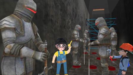 疯狂爷爷:塔米解谜语开锁逃跑,途中遇到好多拿剑的士兵!