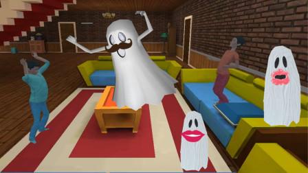 整蛊小兄弟:用报纸剪的幽灵整蛊哥哥,哥哥醒来后吓一大跳!