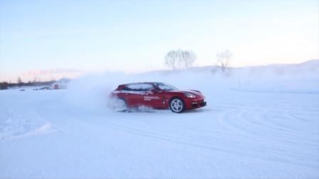感受冰天雪地下的热血漂移 2021保时捷凌驾风雪