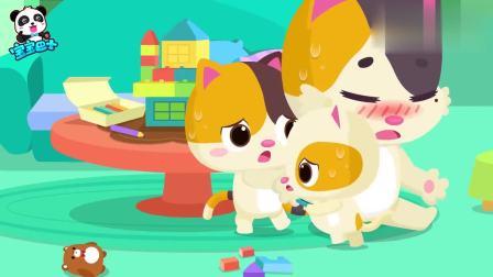 宝宝巴士:妈妈生病了,小猫咪扮演小医生,学着照顾她
