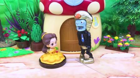 僵尸想要抓独角兽,贝儿公主用魔鬼辣椒粉对付他,吃完变成香肠嘴