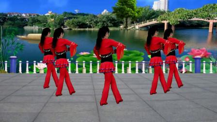 广场舞《喜从天降龙凤呈祥》歌曲欢快喜庆,舞蹈充满活力