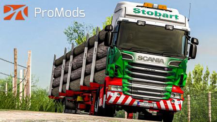 欧洲卡车模拟2 #382:英国EddieStobart公司涂装斯堪尼亚R500V8 运输原木   Euro Truck Simulator 2