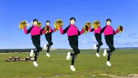 新年舞教学《扭转乾坤》32步花球舞超好看,超健身